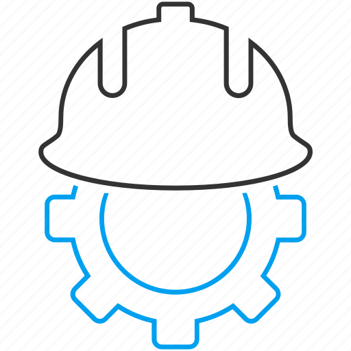 construction, development, hardhat, helmet, industry, safety, work icon