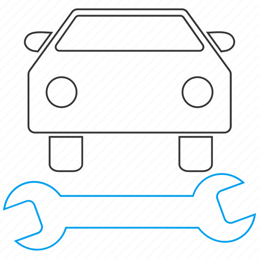 auto, car repair, garage, mechanic, service, tools, work icon
