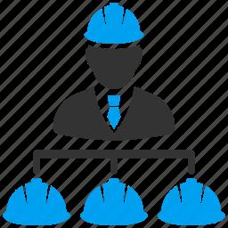 business, engineer, engineering, equipment, industry, management, teamwork icon