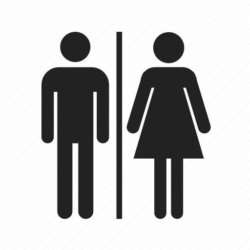 bathroom, couple, female, girl, human, male, man, person, restroom, silhouette, toilet, wc, woman icon