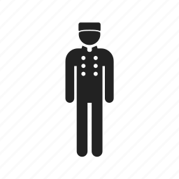 bellboy, bellhop, carrier, client, courier, delivery, human, male, man, men, people, profile icon