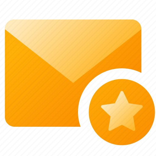 favorites, mail, message, star icon