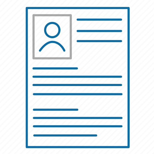 customer card, cv, employee card, resume icon