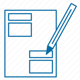 document, filling, manual filling, manual input, signing icon
