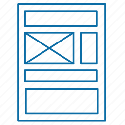 document, pattern, template icon
