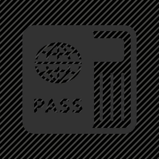 hotel service, passport, travel icon
