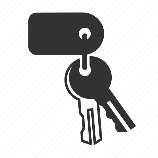 hotel service, key, room icon