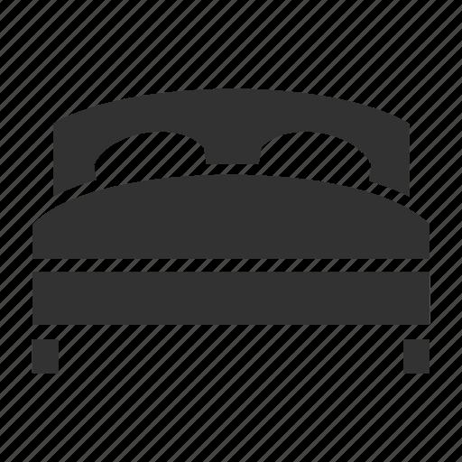 bed, hotel service, sleep icon