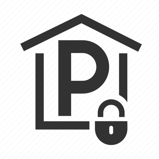 closed parking, hotel service, parking place icon