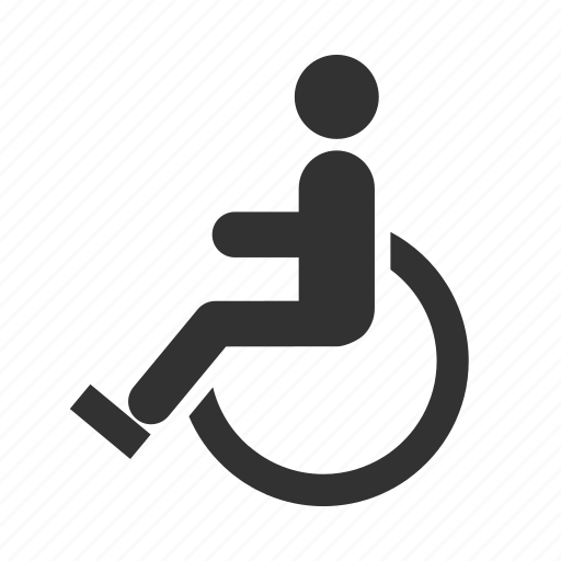 cripple, disabled, handicapped, hotel service, wheelchair icon