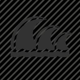 ocean, sea, water, waves icon