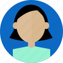 avatar, female, human, people, profile, user, woman icon