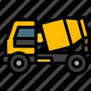 concrete, car, transport, construction, vehicle