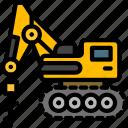 excavator, auger, drive, construction, vehicle icon
