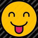 emoji, face, smiley, emoticon, cheeky icon