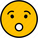 emoji, face, smiley, emoticon, shocked icon