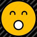 emoji, face, smiley, emoticon, shy icon