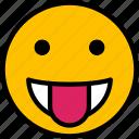 emoji, face, smiley, emoticon, tongue
