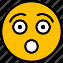 emoji, face, smiley, emoticon, surprised