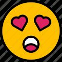 emoji, face, smiley, emoticon, love