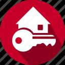 flat, house, house key, icon, key icon