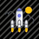 business, launch, marketing, rocket, startup, website icon