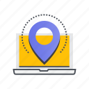 direction, location, map, navigation, pin, web icon