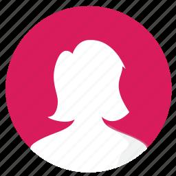 female, mobile, picture, profile, ui icon
