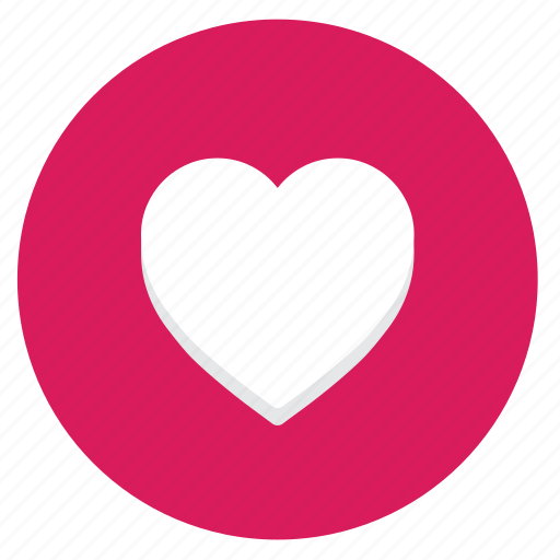 heart, love, lover, minimal, pink, red icon