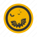 bat, celebration, darkness, full, halloween, holiday, moon, mysterious, mystery, night, twilight, vampire icon