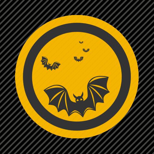 bat, celebration, darkness, full, halloween, holiday, moon, mysterious, mystery, night, twilight, vampire icon