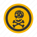 danger, dead, deadly, death, forbidden, halloween, head, secret, skeleton, skull icon