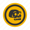 death, halloween, poison, skull icon