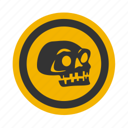 death, halloween, poison, skull icon