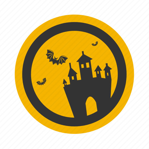 autumn, bat, castle, halloween, holiday, moon icon