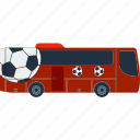 bus, design, fan, football, soccer, transportation icon
