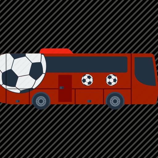 bus, design, fan, football, soccer, transportation icon