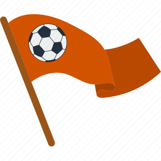 ball, banner, cheerful, fan, flag, football, soccer icon