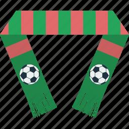 design, fan, football, scarf, soccer, sport icon