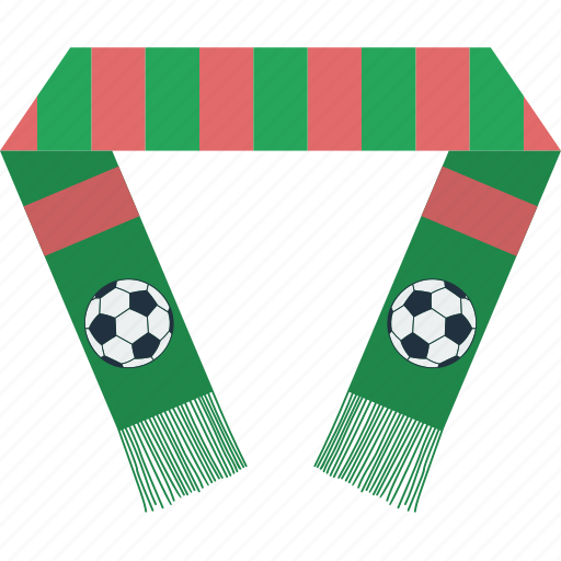design, fan, football, scarf, soccer, sport icon