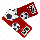 design, fan, football, pass, soccer, tickets icon