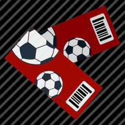 design, fan, football, pass, soccer, tickets icon