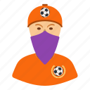 design, fan, football, head, soccer, ultras icon