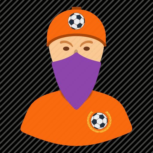 design, fan, football, head, soccer, ultras icon