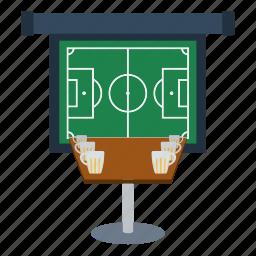 bar, beer, design, footbal, soccer, sport icon
