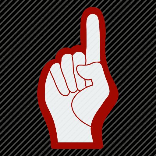 design, fan, finger, foam, football, soccer icon
