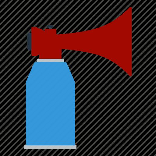 aerosol, design, football, horn, noise, soccer icon