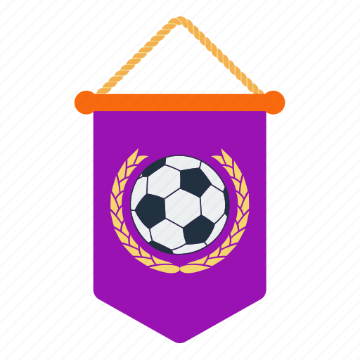 design, fan, football, pennant, soccer, spport icon