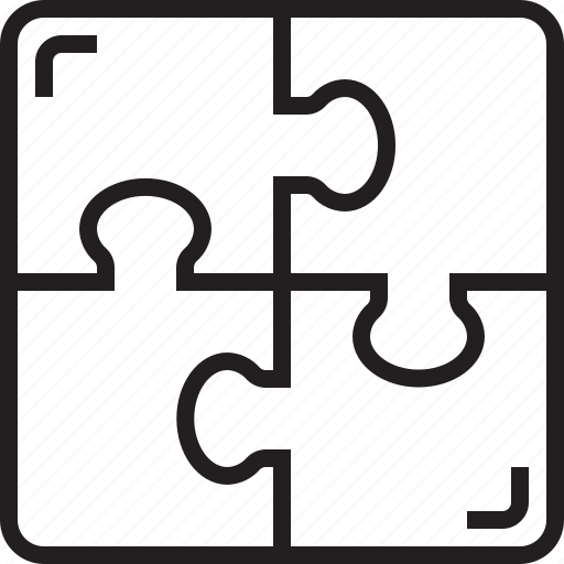 idea, puzzle, solution, teamwork icon