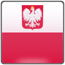 flag, national, poland, polska icon